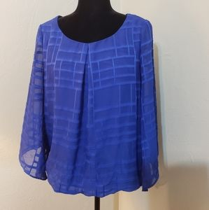🦄 Alyx blouse blue size M polyester sheer